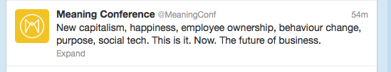 Meaning 2012 conference tweet