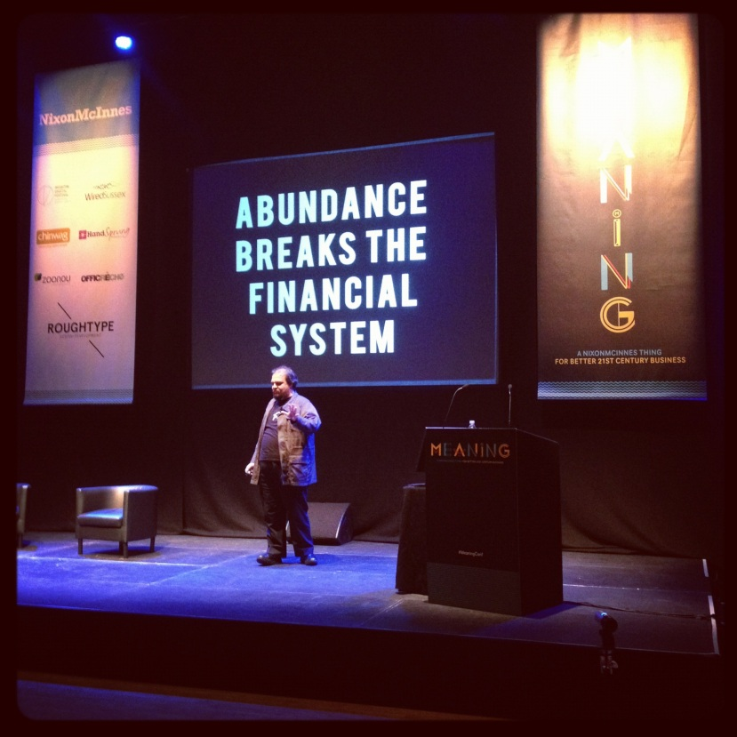 Abundance breaks the financial system